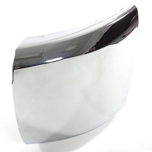 CarPartsDepot 08-10 Chevy Siverado HD Front Bumper End Cap GM1016107 Chrome Steel For 15839253