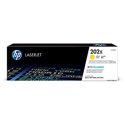 (HP 202X (CF502X) Yellow High Yield Toner Cartridge for HP LaserJet Pro M254 M281cdw M281dw)