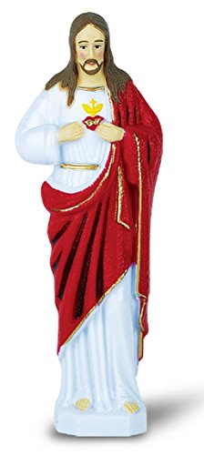 (JMJ Products, LLC Sacred Heart of Jesus plastic statue - Six Inch boxed)