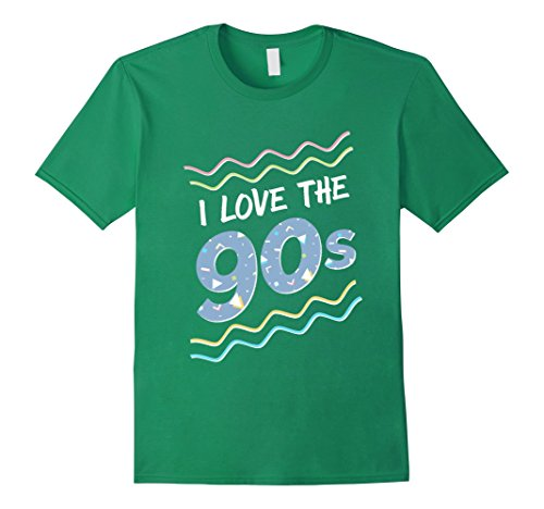 [Mens I Love the 90s Shirt, Retro Colorful T-Shirt Medium Kelly Green] (80s Themed Outfits)