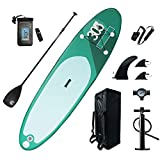 Recreación al aire libre Deportes acuáticos Surf Tablero de paletas de pie, ancho, inflable, portátil, 6 pulgadas, tablero SUP grueso con accesorios SUP y ancho de bolsa de transporte, 80 cm for mante