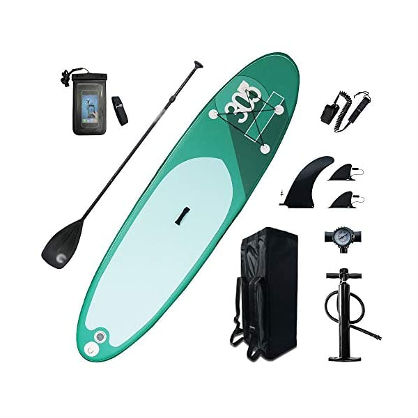 Stand Up Paddel Gonfiabile Gonfiabile ampio stand up paddle pensione 6 pollici di spessore SUP Board con SUP Accessori… 2 spesavip