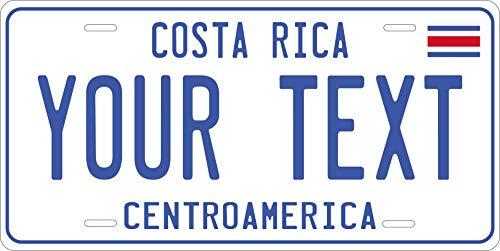 PhotoZoneGa Costa Rico 2012 Personalized Custom Novelty Tag Vehicle Car Auto Motorcycle Moped Bike Bicycle License Plate