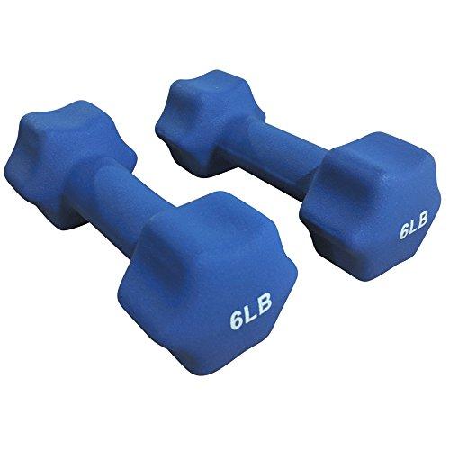Titan Neoprene Light Weight Dumbbell Set - 5, 6, 7 LB