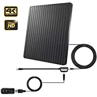 HD TV Antenna, Digital Amplified Indoor Antenna with Detachable Amplifier Signal Booster. 60+ Miles Premium Design for Better Reception