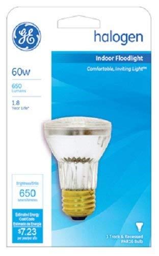 (GE Lighting # 47578 60W, 120V, Glass Halogen Reflector Flood Light Bulb - Quantity 2)