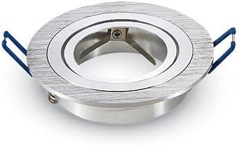 LED Aufbaurahmen Rund 94x125mm Weiß Aluminium Schwenkbar Spot GU10 MR16