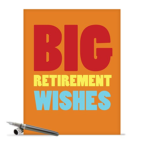 J2734RTG Jumbo Funny Retirement Card: Big Retirement Wishes With Envelope (Extra Large Version: 8.5'' x 11'')