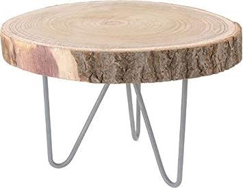 Rustikaler Massivholz Beistelltisch Holz Tisch Aus Baumscheibe