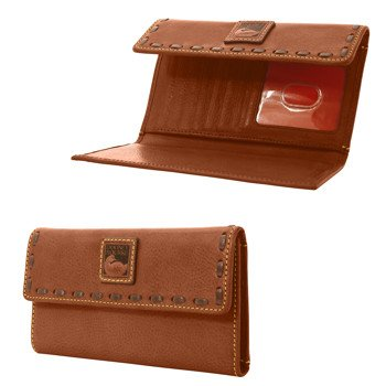 Dooney & Bourke Florentine Continental Clutch Chestnut/Self Trim by Dooney & Bourke
