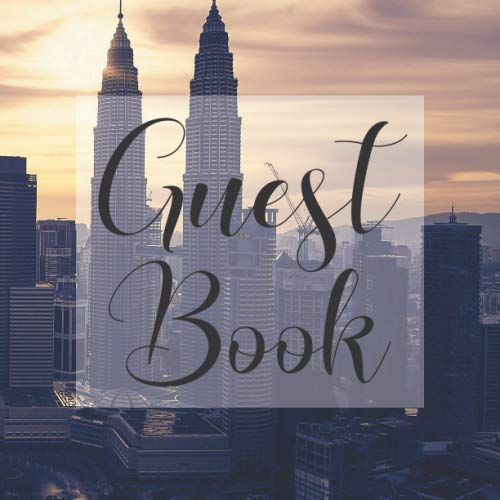Guest Book: Skyline City Cityscape- Signing Guestbook Gift Log Photo Space Book for Birthday Party Celebration Anniversary Baby Bridal Shower Wedding ... Keepsake to Write Special Memories In