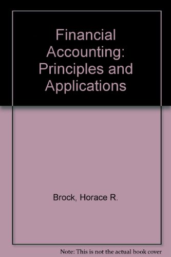 Financial Accounting: Principles and Applications