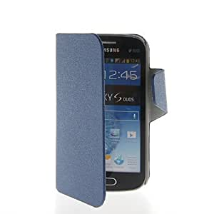 CASEPRADISE Thin Slim Leather Wallet Card holder Pouch Stand Flip Cover Etui Case For Samsung Galaxy S Duos S7562 Sapphire