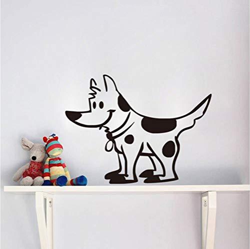 wuyyii 57X44Cm Cartoon Spots Dog Vinyl Wall Sticker