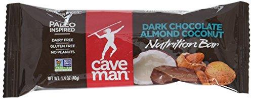 Caveman Bar - Dark Chocolate Almond Coconut - Box Caveman Foods 15 Bars 1 Box