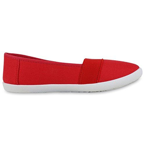 napoli-fashion - Mocasines Mujer Rojo