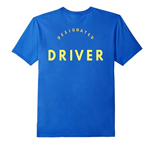 Men's Designated Driver Double Side Printed Safety Shirt XL Royal Blue (Toga Ideas)