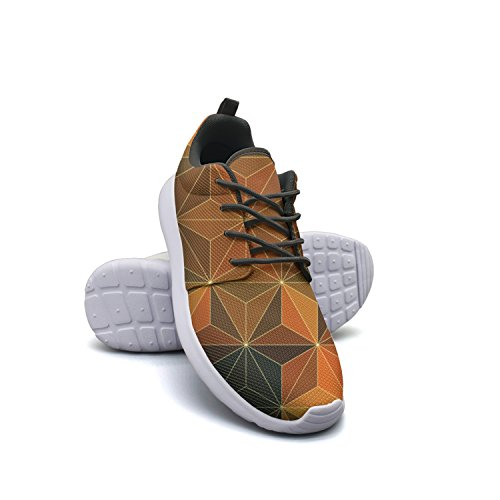 H3F3YRT Men's Lightweight Sport Running Shoes Breathable Anti-Slip Jogging Sneakers Dimetric Foursquare Mesh Running Shoes For (Foursquare Mens Pants)