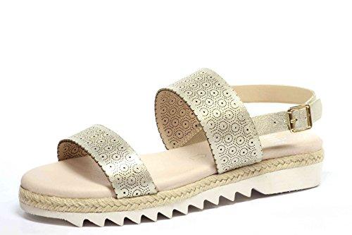 Air 28615 9 Walking Caprice Gold Sandale 38 Damen On Leder Metallic 943 CPxwqU7x