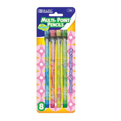 Fancy Multi-Point Pencil (Set of 8) Quantity: Case of 144 by Bazic