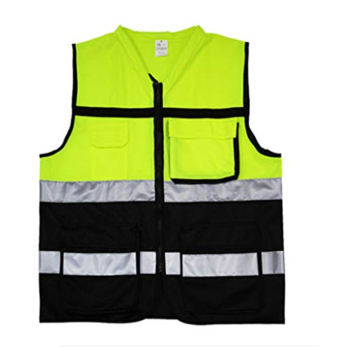 Reflective Safety Jacket No Sleeve for Work Outdoor Activity (Color : Green, Size : L) by Lizilan (Image #1)
