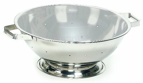 Crestware COL13 13-Quart Stainless Steel Footed Colander, 1, Silver