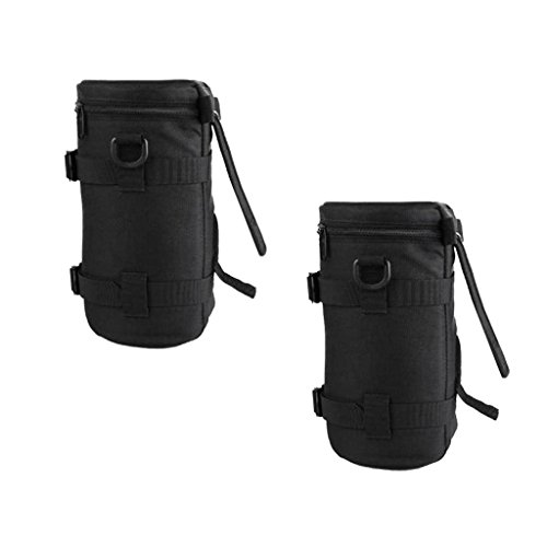 Dovewill 2Pieces Dustproof Camera Lens Bag Protective Pouch Storage Case Cover for DSLR by Dovewill