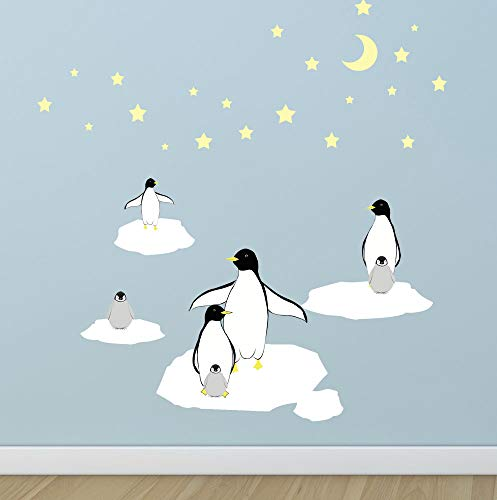- Create-A-Mural : Kids Room Penguin Wall Decals ~Children's Peel & Stick Nursery Wall Art Room Wall Decor