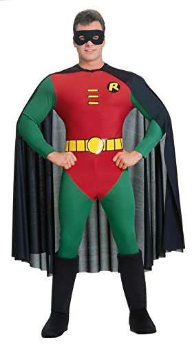 Rubies Mens Deluxe Robin Marvel Superhero Theme Party Halloween Costume, Large (38-42) (Plus Size Marvel Costumes)
