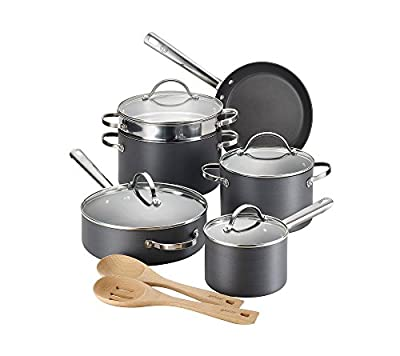 Anolon 12-pc. Black Professional Hard-Anodized Nonstick Cookware Set
