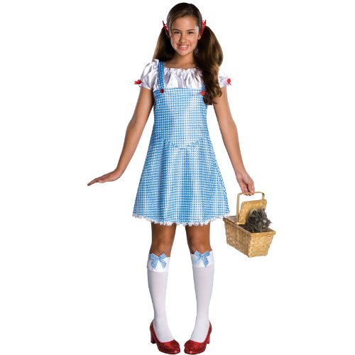 [Wizard Of Oz Dorothy Costume, Blue/White, Medium] (Dorothy Of Oz Costumes For Adults)