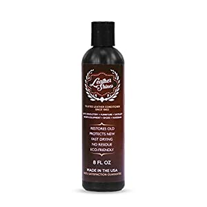Leather Shines Leather Conditioner - Leather Restorer for Automotive, Sofa, Couch, Furniture, Leather Jacket, Boots and Shoes, and Purses - 8oz