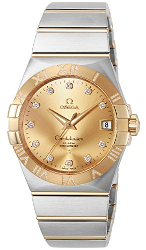 Omega-Constellation-Gold-Dial-Co-axial-Automatic-Winding-Diamond-Back-Cover-Skeleton-K18yg-Stainless-12325382158002-Men-Watches