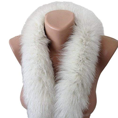 Scarf Fur edge fringe on the hood or collar fur arctic fox from RizhikOva
