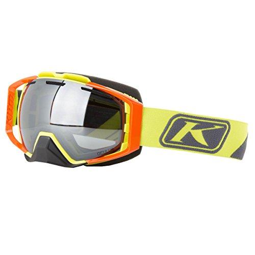 KLIM Oculus Adult Snow Snowmobile Goggles Eyewear - Slice Lime Smoke Silver Mirror/One Size