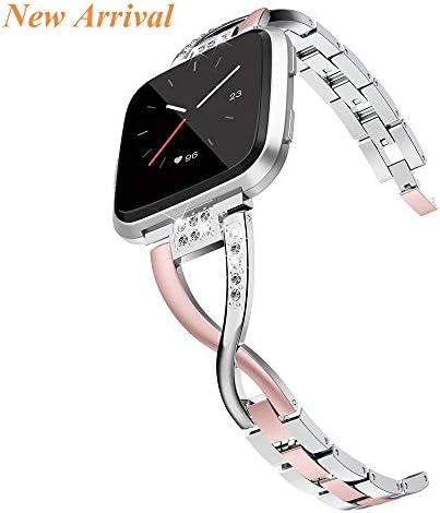 Wearlizer 금속 교체용 Fitbit Versa 밴드 여성용 로즈 골드 실버 블랙 스몰 라지 / Wearlizer 금속 교체용 Fitbit Versa 밴드 여성용 로즈 골드 실버 블랙 스몰 라지
