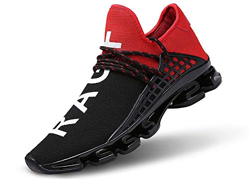Reebok Puma Nike - JIYE Men's Running Sports Shoes Free Transform Flyknit Fashion Casual Sneakers,Red,6.5US-Men/8US-Women