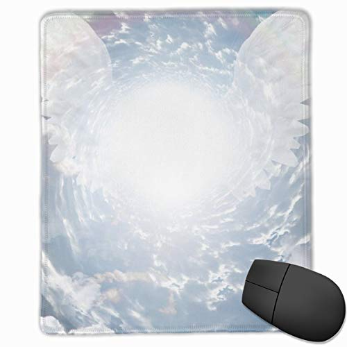 Gaming Mouse Pad with Stitched Edge Angel Wings Mouse Pads for Computers Laptop & PC Anti-Slip Mousepad
