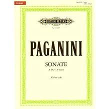 Paganini, Niccolo - Sonata in A Major - Violin solo - edited by Michael Jelden - Peters