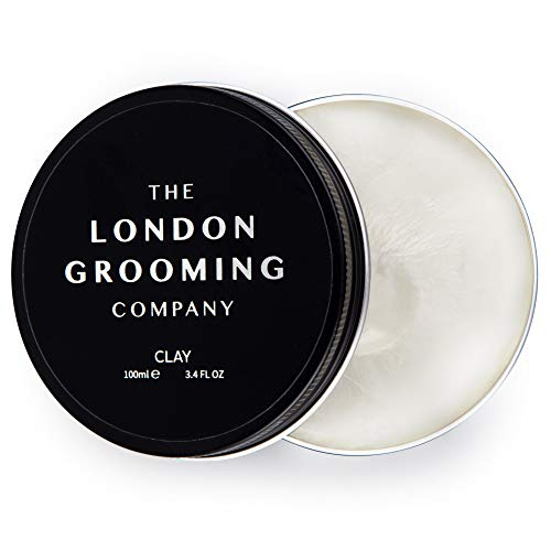 - The London Grooming Company Clay for Men - Firm Hold and Dry Matte Finish - 3.4oz Water Based Men's Hair Product, Easy to Wash Out - Oud Wood Scent