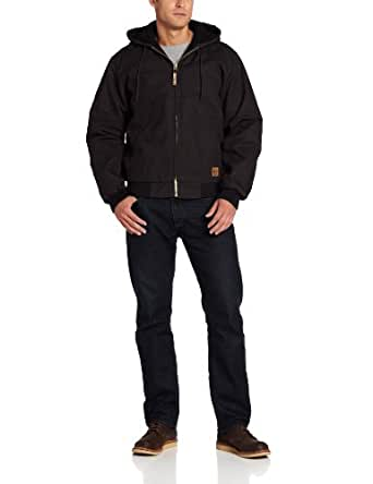 Berne Men's Original Hooded Jacket, Black, Small/Regular