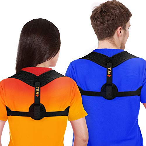 4well Posture Corrector for Women Men | Posture Brace | Comfortable Back Brace Posture Corrector Spinal Alignment Posture Support Strap | Adjustable Back Straightener | Posture Fixer | Slouching Brace