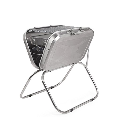 Mystin Charcoal BBQ Grill Collapsible Stainless Steel for Camping Tailgating and Picnic by Mystin