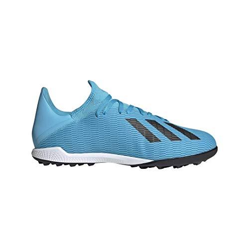 adidas Men's X 19.3 Turf Soccer Shoe Bright Cyan/Black/Shock Pink 7.5 M US