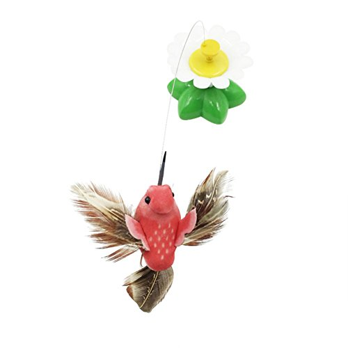Patgoal Funny Cat Toys Electric Rotating Butterfly Birds Steel Wire Cat Teaser Fly Toy - Butterfly And Cat