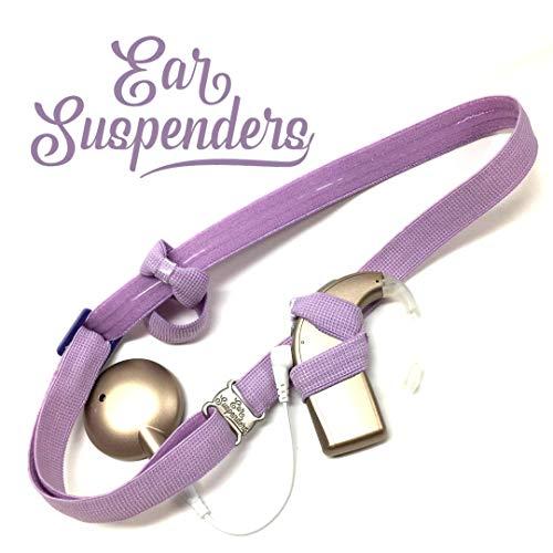 (Ear Suspenders Headband for Cochlear Implant Retention (Light Purple))