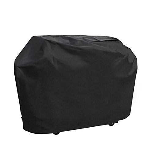 Grill Cover - Large 58 -inch Oxford Fabric BBQ Cover Waterproof & Dust-proof & Anti-UV, Heavy Duty Gas Grill Cover for Outdoor , Garden Patio Grill Protector ( Black Large) by ONMIER