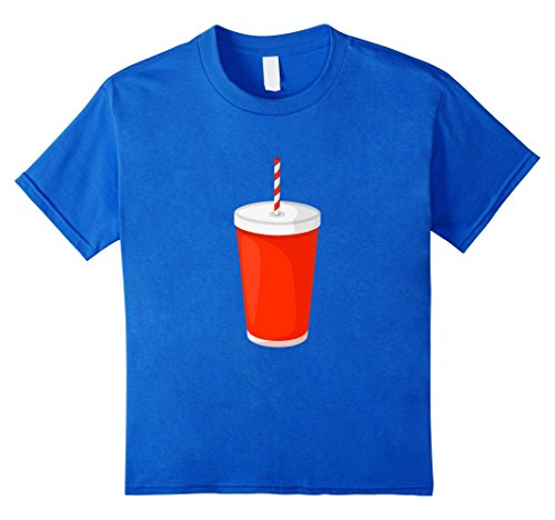 Popcorn Costumes (Kids Costume For Couples Popcorn-Soda Funny Lazy T-shirt 6 Royal Blue)