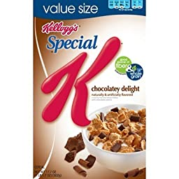 Kellogg\'s, Special K, Chocolatey Delight Cereal, 16.5oz Box (Pack of 4)