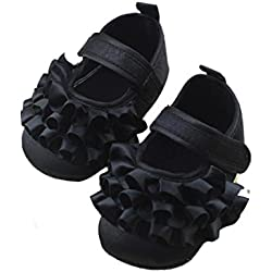 DZT1968® Baby Girl Soft Sole Princess Mary Jane Shoes Prewalker (0~6 Months Baby)